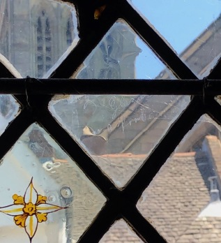 Leicester_Guildhall-glass-detail-grafitti